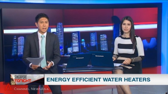 Channel News Asia Energy Efficient Heat Pump Water Heaters