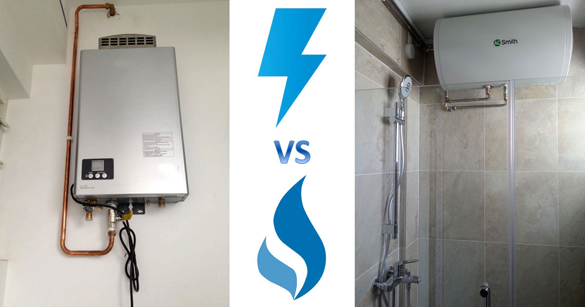 Gas Vs Electric Water Heaters Aos Bath Singapore