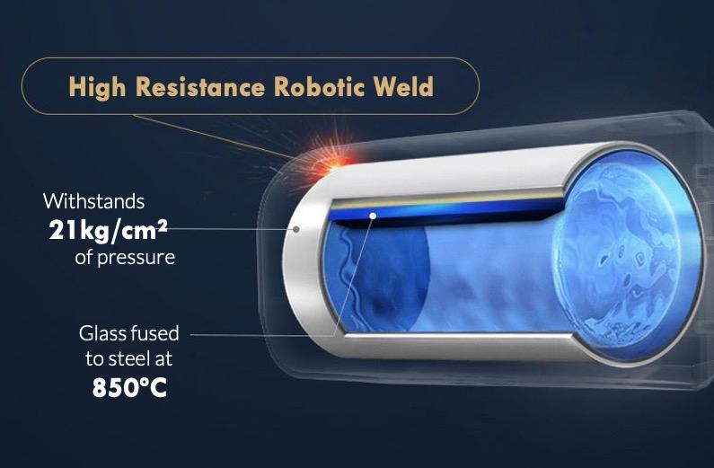 high resistance robotic weld 21kg 850C blue diamond